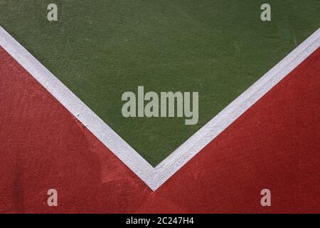 Tennis Court Abstract - Stock Photo