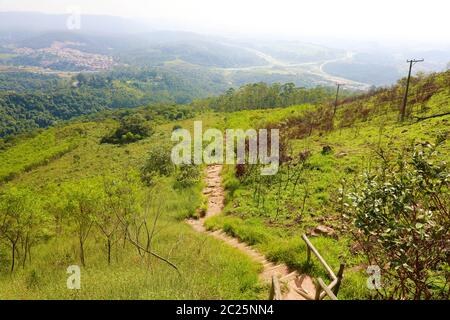 Beautiful view from Jaragua Peak, Jaraguá State Park, Brazil Stock Photo