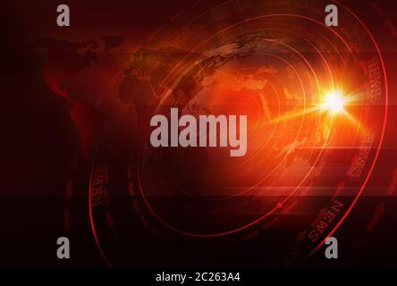 Graphical Sport News Background with World Map and Round Circles with Layers of Stages. Text on Ground. 3d illustration, 3d render - Stock Photo