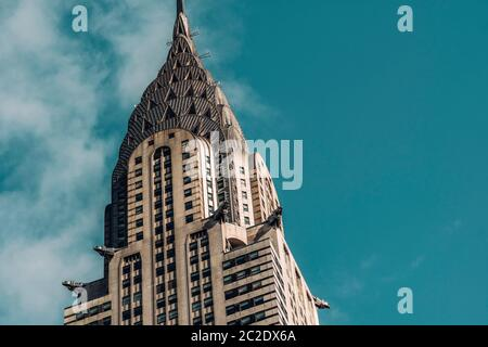 Close-up view of Chrysler Building in Midtown Manhattan New York City Stock Photo