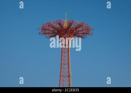 Parachute Jump in Coney Island Brooklyn New York - Stock Photo