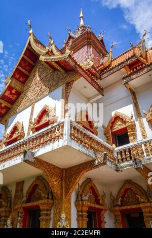 Wat Buppharam temple in Chiang Mai, Thailand - Stock Photo