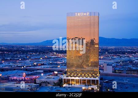Trump Tower in Las Vegas, Nevada, USA - Stock Photo