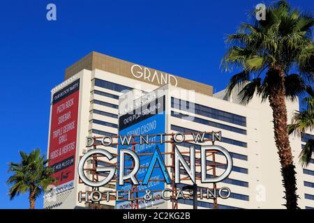 Downtown Grand Hotel, Las Vegas, Nevada, USA - Stock Photo