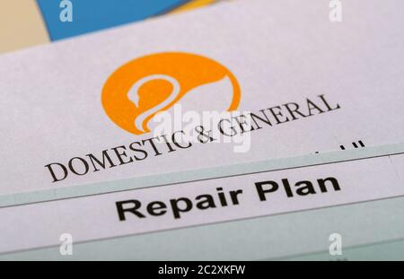 Domestic And General Appliance Protection Insurance Repair Plan To Cover Kitchen Goods In The Event Of Breakdown Stock Photo Alamy