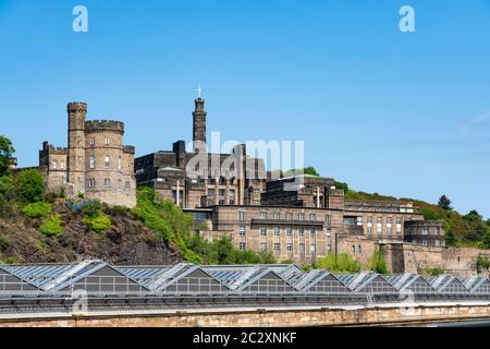 View of St AndrewÕs House where Scottish Government is based on Calton Hill in Edinburgh, Scotland ,UK - Stock Photo