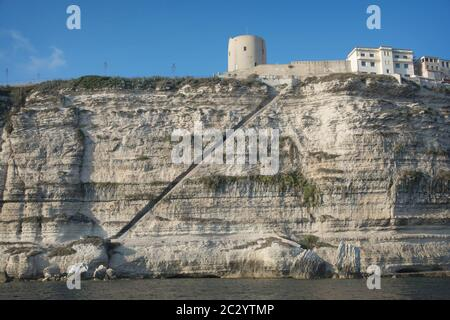 The Staircase of The King of Aragon (In french: 'Escalier du Roi d'Aragon'), a famous stony staircase in the commune of Bonifacio, Corsica, France