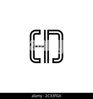 HN alphabet abstract initial letter logo design vector template - Stock Photo