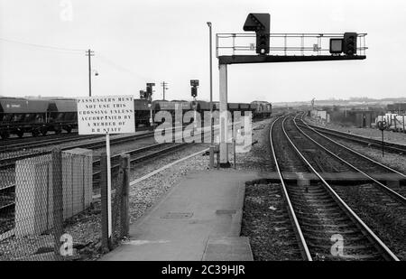Bristol Parkway station, England, UK. 3rd March 1987. - Stock Photo