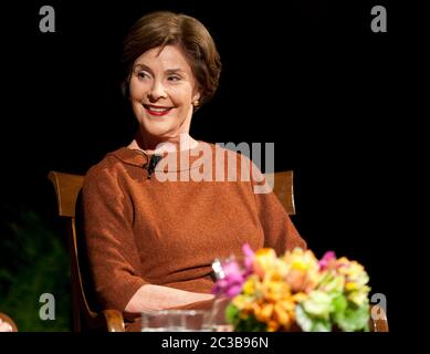 November 16th, 2012 Austin, Texas USA: Former First Lady Laura Bush, during 'The Enduring Legacies of America's First Ladies' conference at the LBJ Presidential Library  ©MKC / Daemmrich Photos - Stock Photo