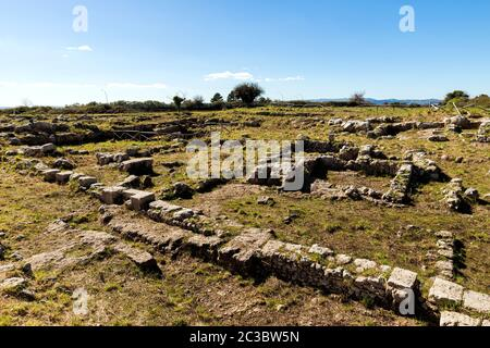 Landscapes of The Archaeological Zone - The Acropolis in Palazzolo Acreide, Province of Syracuse,Italy.