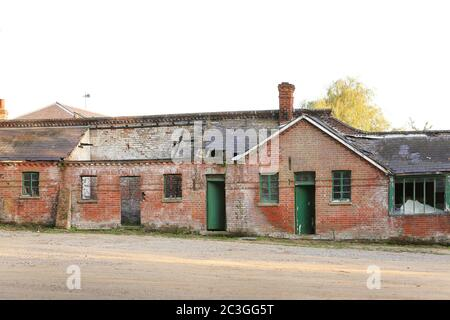 old derelict building in need of repair - Stock Photo