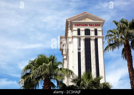 LAS VEGAS, USA - APRIL 18: The famous Caesers Palace Hotel. On 14th May 2012, the owners, Caesers Enertainment Corp. opened its first casino in in 5 y - Stock Photo