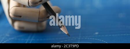 Artificial intelligence architect calculations - Stock Photo