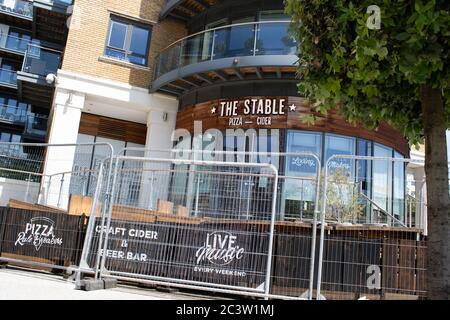 London, UK. 22nd June, 2020. Pubs and hotels remain closed or under very limited capacity. The government is expected to announce new measures to help open up the Hospitality industry on Tuesday. Credit: Liam Asman/Alamy Live News - Stock Photo