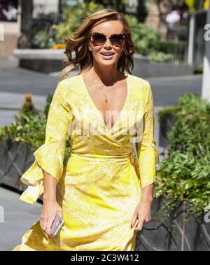London, UK. 22nd June, 2020. Amanda Holden seen departing the Global Radio Studios in London. Credit: SOPA Images Limited/Alamy Live News - Stock Photo