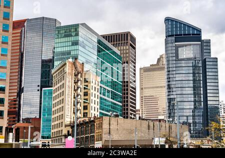 Skyscrapers in Downtown Pittsburgh. Pennsylvania, USA - Stock Photo