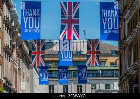 London, UK. 22nd June, 2020. Covent Garden remains quiet, and many shops remain shut, despite the fact that all shops are now allowed to open during the easing of the Coronavirus (covid 19) Lockdown. Credit: Guy Bell/Alamy Live News - Stock Photo