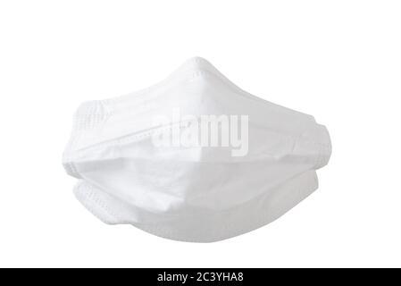 Protective coronavirus face mask mock-up isolated on white background - Stock Photo