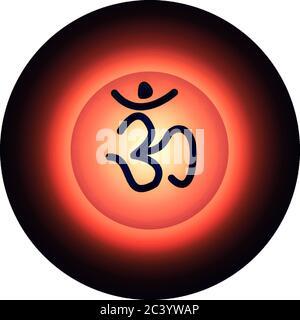 on icon of hindu religion - Stock Photo