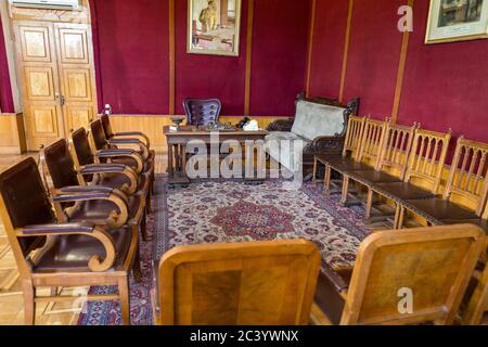 Stalin's Office furniture and layout: The Joseph Stalin Museum, Gori, Georgia - birthplace of Stalin - Stock Photo