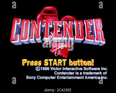 Contender - Sony Playstation 1 PS1 PSX - Editorial use only