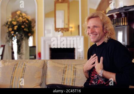 Thomas Gottschalk - TV presenter - mirror interview in the Bayerischer Hof - Munich - Bavaria - Germany - Stock Photo