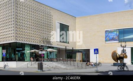 Westphalian State Museum of Art and Cultural History, LWL-Museum für Kunst und Kultur exterior in summer, Münster in Westfalen, Germany - Stock Photo