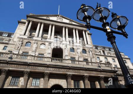 Bank of England on Threadneedle Street in the City of London, London, England, United Kingdom, Europe - Stock Photo