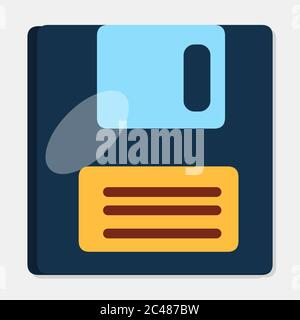 floppy disk isolated symbol vector illustration in flat style - Stock Photo