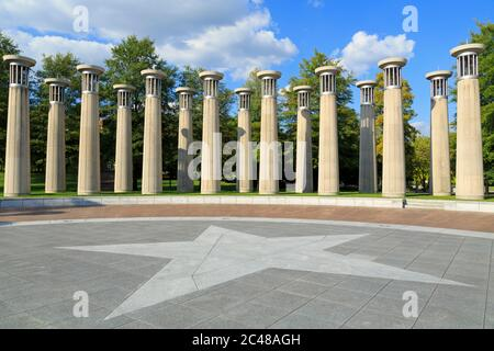 Carillon in Bicentennial Capitol Mall State Park,Nashville,Tennessee,USA - Stock Photo