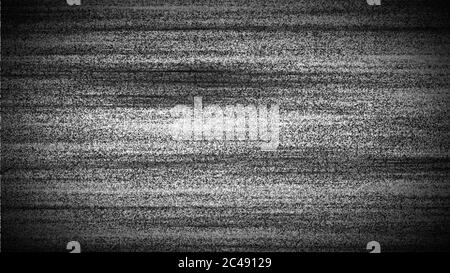 TV screen noise - black and white - television interference - Stock Photo