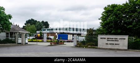 The entrance to MSL Distributors off the Naas Road, MSL distribute Mercedes Benz vehicles in the Republic of Ireland - Stock Photo
