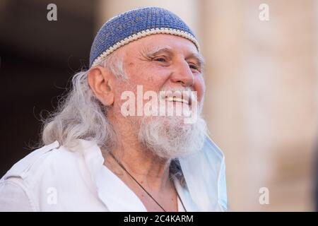 Roma, Italy. 27th June, 2020. Moni Ovadia (Photo by Matteo Nardone/Pacific Press) Credit: Pacific Press Agency/Alamy Live News - Stock Photo