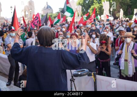 Roma, Italy. 27th June, 2020. Luisa Morgantini (Photo by Matteo Nardone/Pacific Press) Credit: Pacific Press Agency/Alamy Live News - Stock Photo