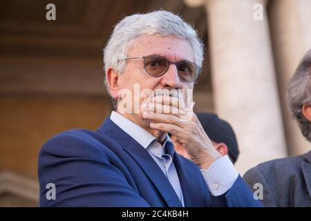 Roma, Italy. 27th June, 2020. Massimo D'Alema (Photo by Matteo Nardone/Pacific Press) Credit: Pacific Press Agency/Alamy Live News - Stock Photo