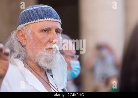 Roma, Italy. 27th June, 2020. (6/27/2020) Moni Ovadia (Photo by Matteo Nardone/Pacific Press/Sipa USA) Credit: Sipa USA/Alamy Live News - Stock Photo