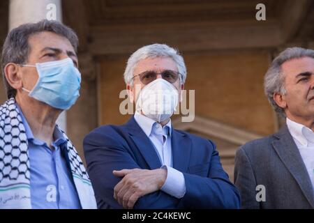 Roma, Italy. 27th June, 2020. (6/27/2020) Massimo D'Alema (Photo by Matteo Nardone/Pacific Press/Sipa USA) Credit: Sipa USA/Alamy Live News - Stock Photo