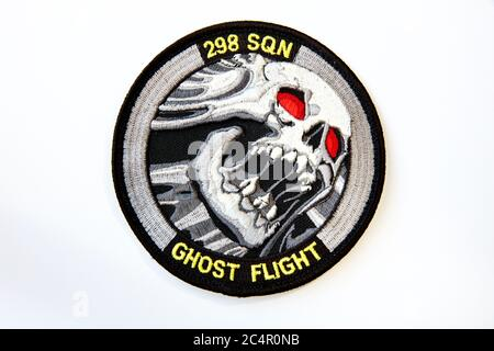 Royal Netherlands Air Force - 298 Squadron Ghost Flight Patch - Stock Photo