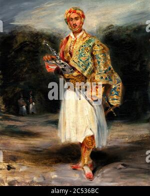 Count Demetrius de Palatiano in Suliot Costume by Eugene Delacroix