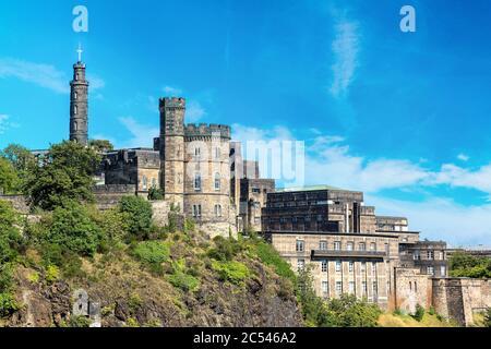 Governor's House on Calton Hill in Edinburgh in a beautiful summer day, Scotland, United Kingdom - Stock Photo
