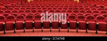 Cinema Theater Red Seats Background Stock Photo Alamy
