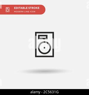 Hard Drive Simple vector icon. Illustration symbol design template for web mobile UI element. Perfect color modern pictogram on editable stroke. Hard Drive icons for your business project - Stock Photo