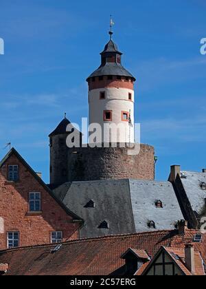 Büdinger Schloß, Bergfried, Grafschaft Ysenburg, Büdingen, Hessen, Germany - Stock Photo