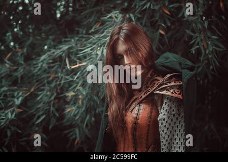 Beautiful fantasy warrior Stock Photo