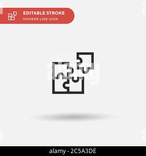 Puzzle Pieces Simple vector icon. Illustration symbol design template for web mobile UI element. Perfect color modern pictogram on editable stroke. Puzzle Pieces icons for your business project - Stock Photo