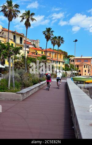 sea promenade of Imperia porto Maurizio Italy