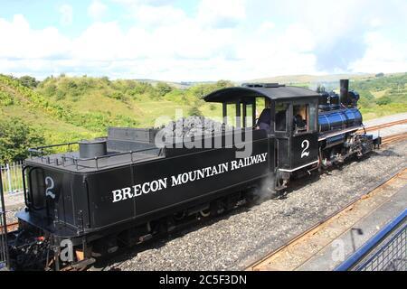 Brecon Mountain Railway in Glamorgan. Wales