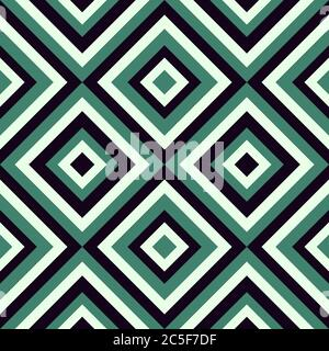 Geometrical pattern in retro colors, seamless vector background. For fashion textile, cloth, backgrounds. - Stock Photo