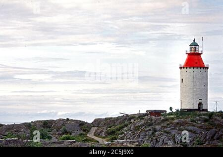 Landsort Island , lighthouse, Stockholm Archipelago, baltic sea coast, Sweden, Scandinavia - Stock Photo
